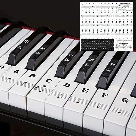 Dsaren Pegatinas Notas Musicales Piano Etiqueta Adhesiva ...