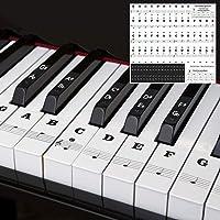 Dsaren Pegatinas Notas Musicales Piano Etiqueta Adhesiva Teclado