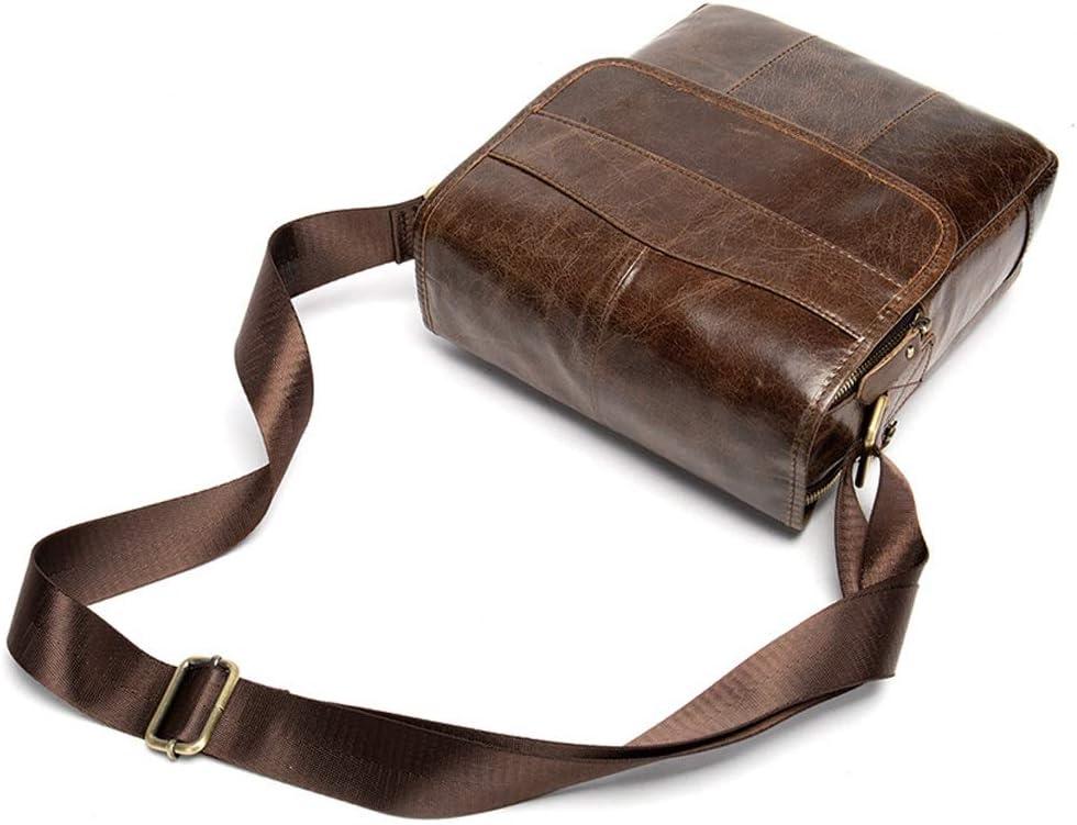 Vintage Leather Shoulder Bag for Men Zhengtufuzhuang Briefcase 22x7.5x27cm Messenger Brown Vertical High Volume Multi-Functional Business Handbag
