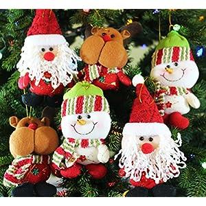 6pk Plush Christmas Ornament Sets (santa/snowman/reindeer) 71
