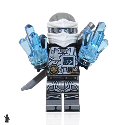 LEGO Ninjago Hands of time Minifigure - Zane (Limited Edition Foil Pack with Sword and Crystals): Toys & Games