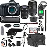 Canon EOS 5D Mark IV With 24-105mm f/3.5-5.6 IS STM + Tamron 70-300mm f/4-5.6 Di LD Macro Lens + 128GB Memory + Pro Battery Bundle + Power Grip + TTL Speed Light + Pro Filters,(24pc Bundle)