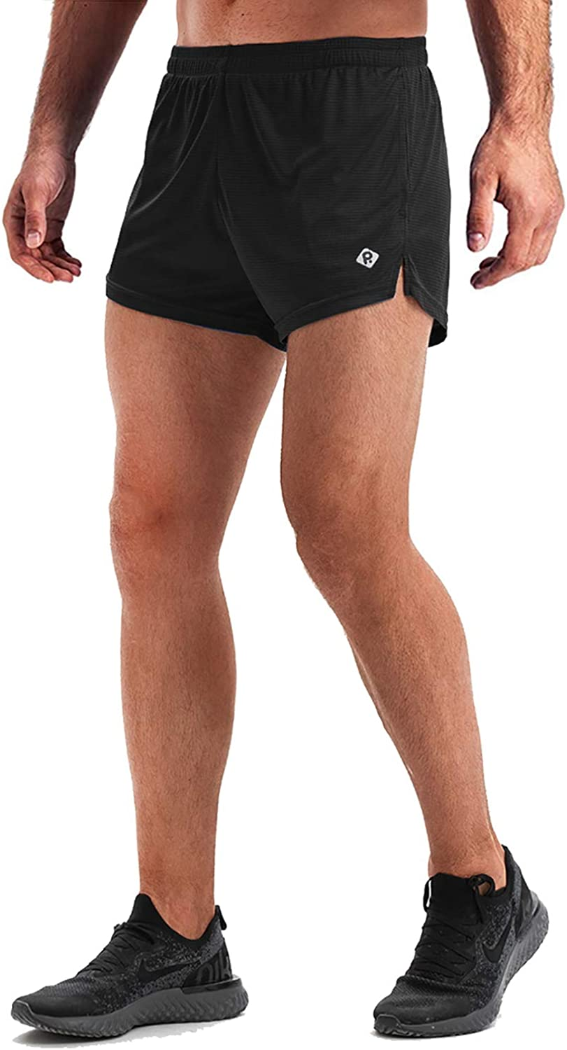 RlaGed Mens 3 Workout Running Quick Dry Lightweight Training Pace Athletic Outdoor Shorts with 2 Pockets