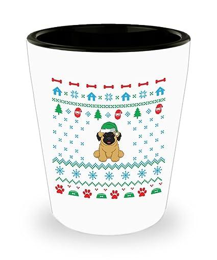 Amazoncom Leonberger Dog Ugly Christmas Sweater Shot Glass Sayings
