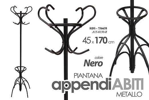 GICOS IMPORT EXPORT SRL Perchero de pie de Metal Color Negro ...