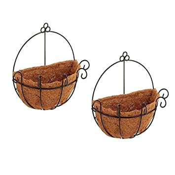 Amazon Com Joanna S Home 2 Pack Wall Hanging Planters Hanging Plant