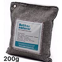 Esther Natural Air Purifying Bag, Natural Bamboo Charcoal Deodorizer, Naturally Removes Odor & Allergens. Fragrance free, chemical free, and non-toxic. 200g charcoal