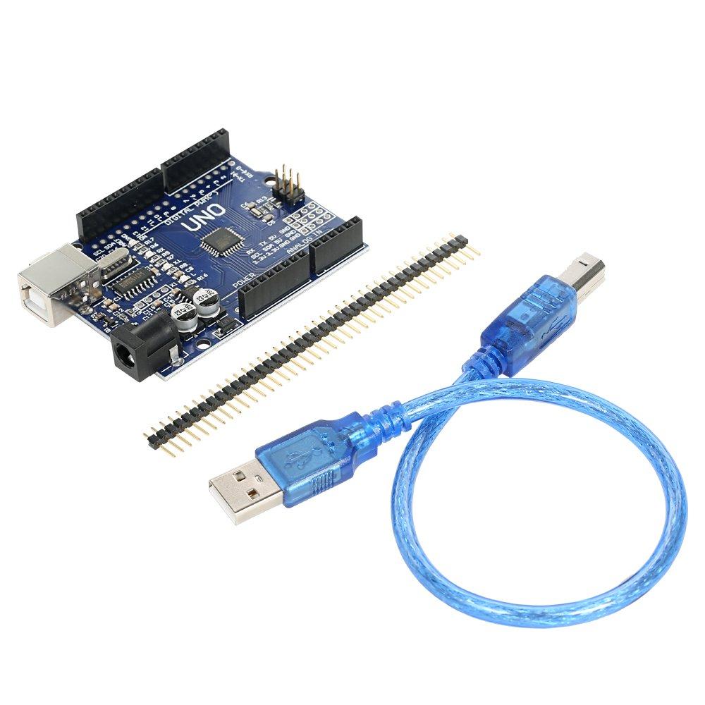 Wunes - UNO R3 ATmega328P CH340 USBボード開発ボード新しく改良版 B07CN2PJ4H 1パック 1パック