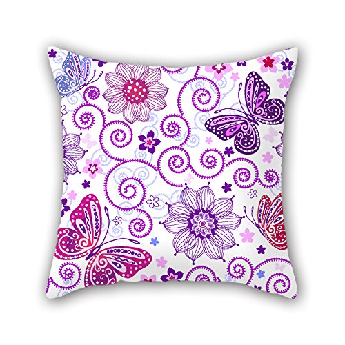 NICEPLW Butterfly Throw Cushion Covers 16 X 16 Inches / 40 By 40 Cm Best Choice For Pub,boys,outdoor,office,bar Seat,dinning Room With Each Side