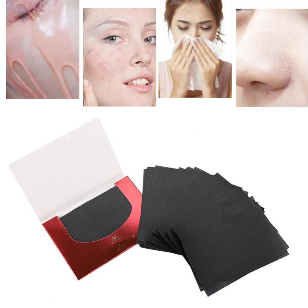 Oil Absorbing Tissues, 90Pcs/Pack Makeup Film Clean & Clear Oil-absorbing Control Sheets Face Clean Beauty Blotting Paper Yotown