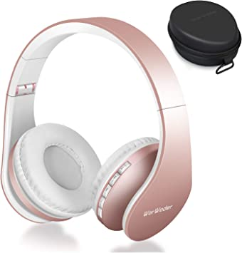 Auriculares Bluetooth Inalámbricos, WorWoder Cascos Bluetooth con Micrófono Hi-Fi Sonido Estéreo Auriculares de Diadema Plegables con Orejeras Suaves para TV, PC, Tablet, Móvil: Amazon.es: Electrónica