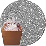 Glitter My World! Craft Glitter: 25lb Box: Sterling Silver