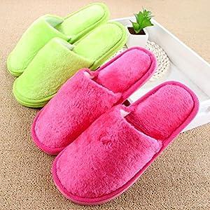 Winter Soft Floor Slippers Men Women Plush Household Home Shoes Couples Indoor Cotton Pantufas Cotton