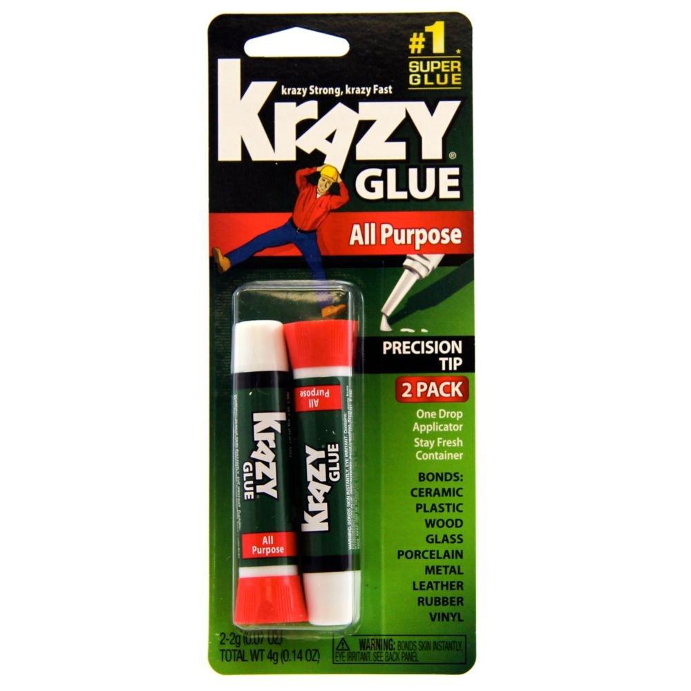 Krazy Glue KG517 Purpose Super Glue, Precision Tip, 2 Grams, 2 Count