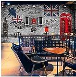 300cmX210cm Custom large scale British style building nostalgic retro brick wall murals restaurant cafe creative personality 3d wallpaper,300cmX210cm