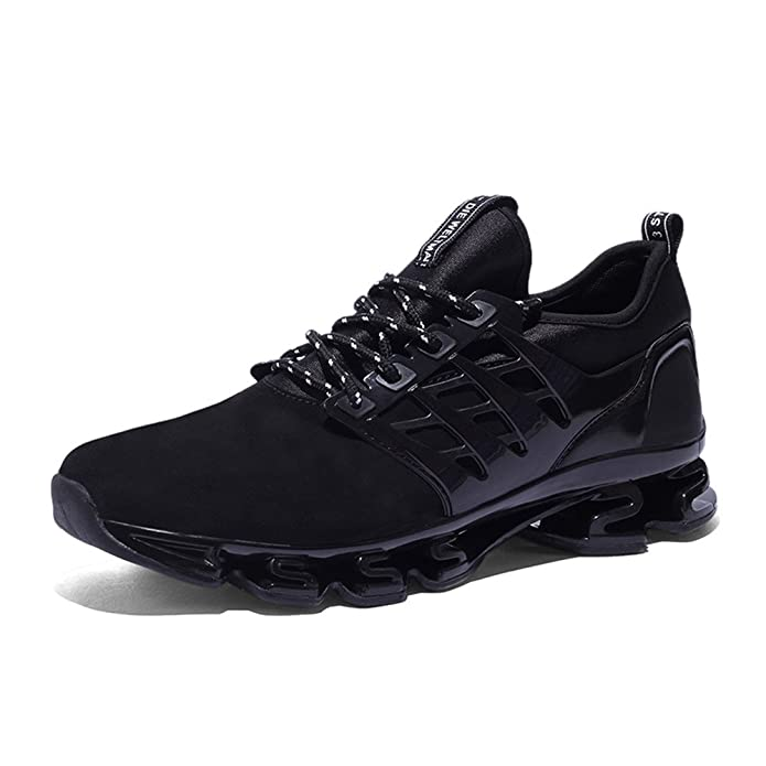 Running Trainers Mens Womens Gym Nubuck Sports Training Shoes Black Red Green UK4 9 B074YLFV4W
