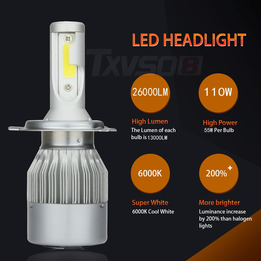 3 Years Warranty Gohyo LED Headlight Bulbs All-in-One Conversion Kit 9005 Cool white 6000K 9200LM 110W Per Kit