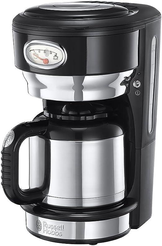 Russell Hobbs 21711-56 Cafetera de acero inoxidable con jarra térmica, color negro, 1000 W, 1 Liter: Amazon.es: Hogar