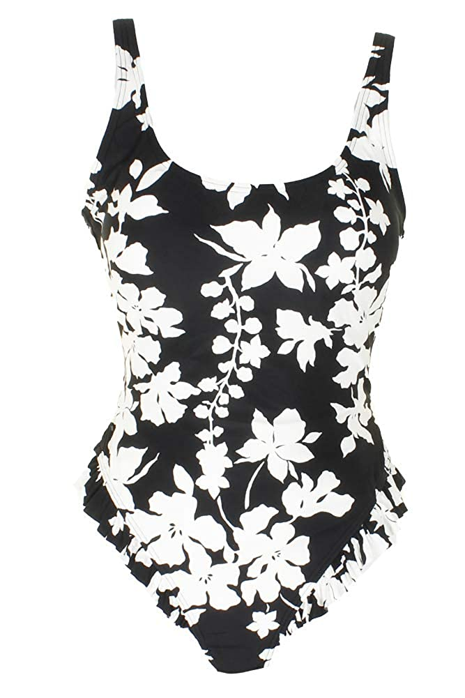 aed9f30f3ab2 MICHAEL Michael Kors Womens Floral Vine One-Piece Swimsuit w High Leg  Ruffles   Removable Soft Cups at Amazon Women s Clothing store