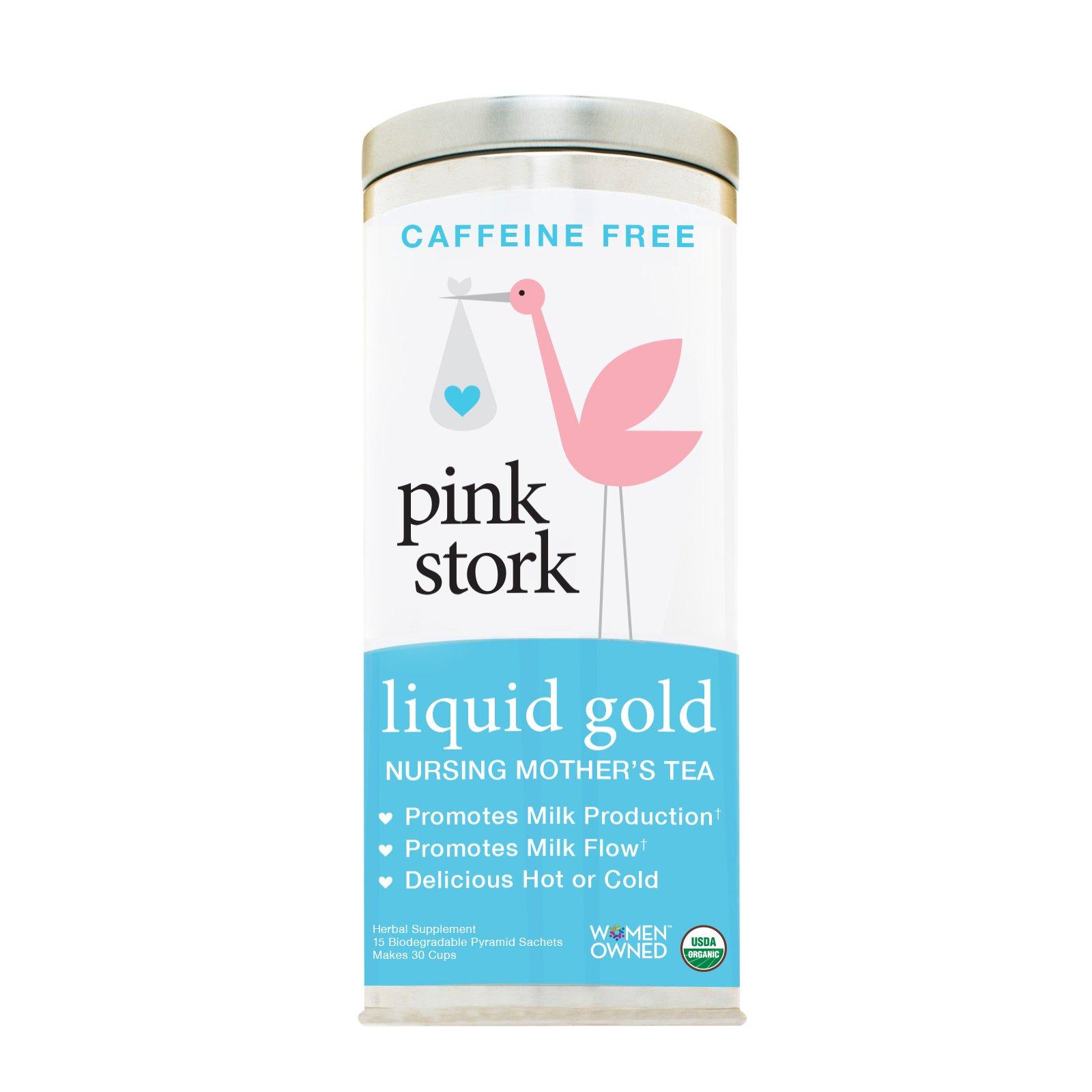Pink Stork Liquid Gold: Breastfeeding and Lactation Support Tea -Organic Loose Leaf Tea in Biodegradable Sachets -Natural Lactation Support -Nursing Mother's Tea -Enhance Breastmilk Nutrition, Supply