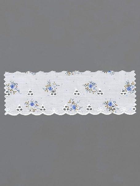 Tira encaje puntilla de polialgodón bordada en algodón costura 5 ...