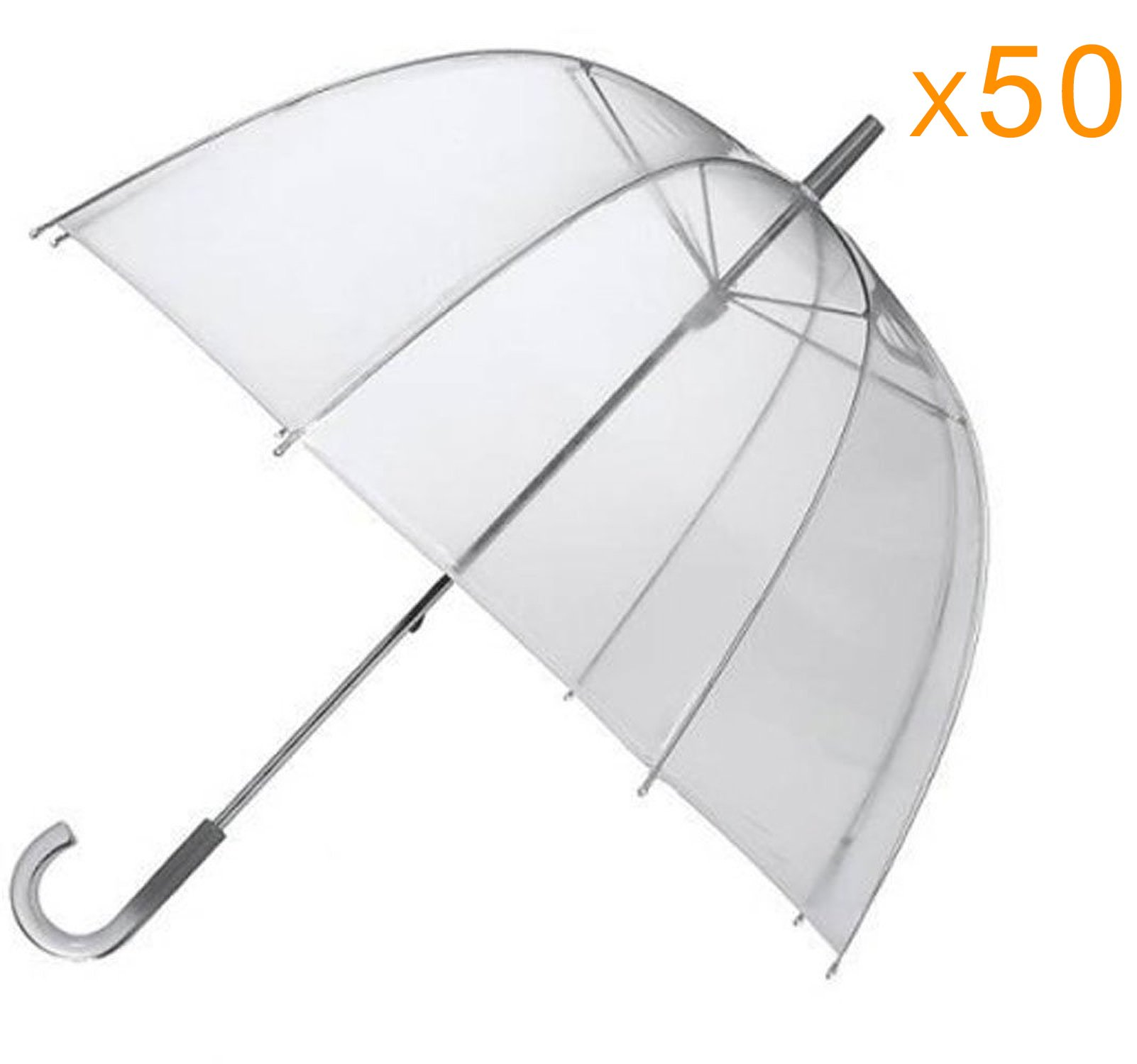 EZbrella Wholesale Dome Bubble Umbrellas Auto Open, 46'' ARC, Case of 50