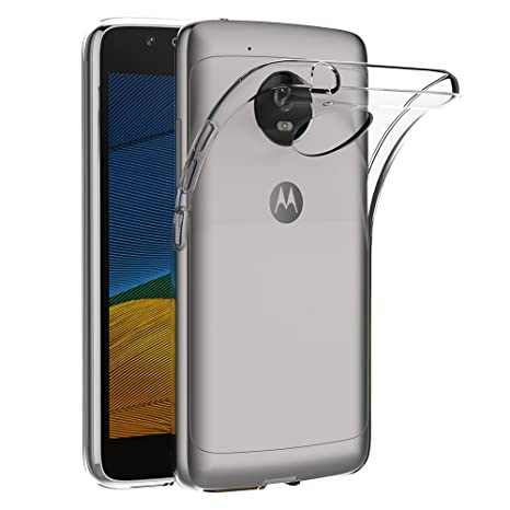 AICEK Funda Lenovo Moto G5, Transparente Silicona Fundas para Motorola Moto G5 Carcasa (5,0 Pulgadas) Silicona Funda Case