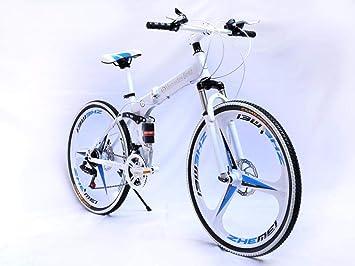 WMZX Freno de Disco Doble Bicicleta,Montaña Plegable Bicicleta ...