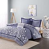 Intelligent Design ID10-367 Isabella Comforter Set, Full/Queen, Blue
