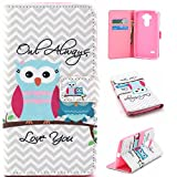 LG G Stylo Wallet Case, LG G4 Stylus Leather Case, Harryshell(TM) Owl Pattern Wallet Folio Leather Flip Case Cover with Credit Card Id Holder for LG G Stylo, G4 Stylus, LS770