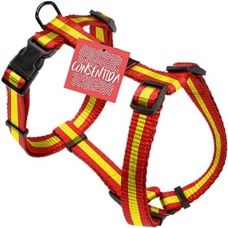 Consentida CN205525 Arnés España T-2, 27-45 x 1.5 cm, M, Rojo y Amarillo: Amazon.es: Productos para mascotas