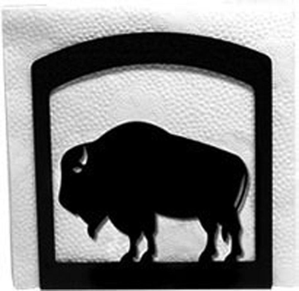 Ironバッファローテーブルナプキンホルダー – Heavy Dutyメタル紙ナプキンディスペンサー、カクテルナプキンホルダー   B00IEYVYOA