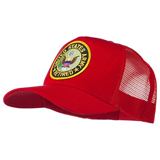 99e50d8cc8d US Army Retired Circle Patched Mesh Cap - Red OSFM at Amazon Men s ...