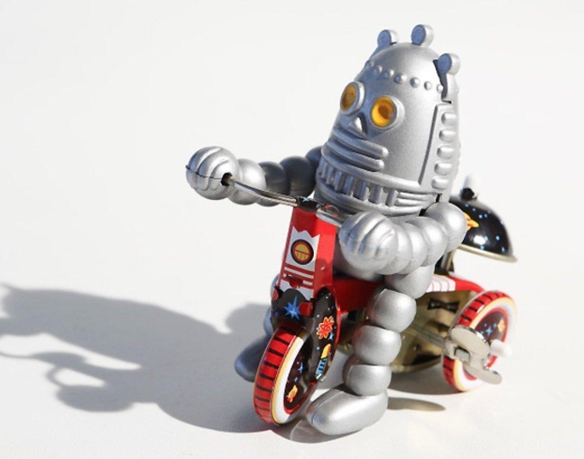 三輪車のレトロな音楽的な錫のおもちゃの赤ん坊のロボット B07B86NG8W, エムズオートカンサイ:4e51162a --- number-directory.top