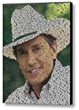 magazine article frame - George Strait List Every Song Mosaic Incredible Framed 9x11 Limited Edition Art W/coa
