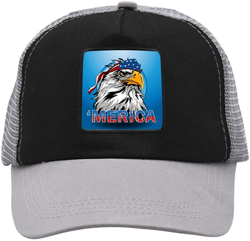 Mesh Cap Hat for Men Women Unisex Print America Eagle