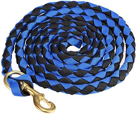 2.5M Blusea Caballo Trenzado Cuerda riendas Cuerda Jinete del Caballo Cuerda Principal Braid Caballo Cabestro con Broche de Bronce 2.0M 3.0M