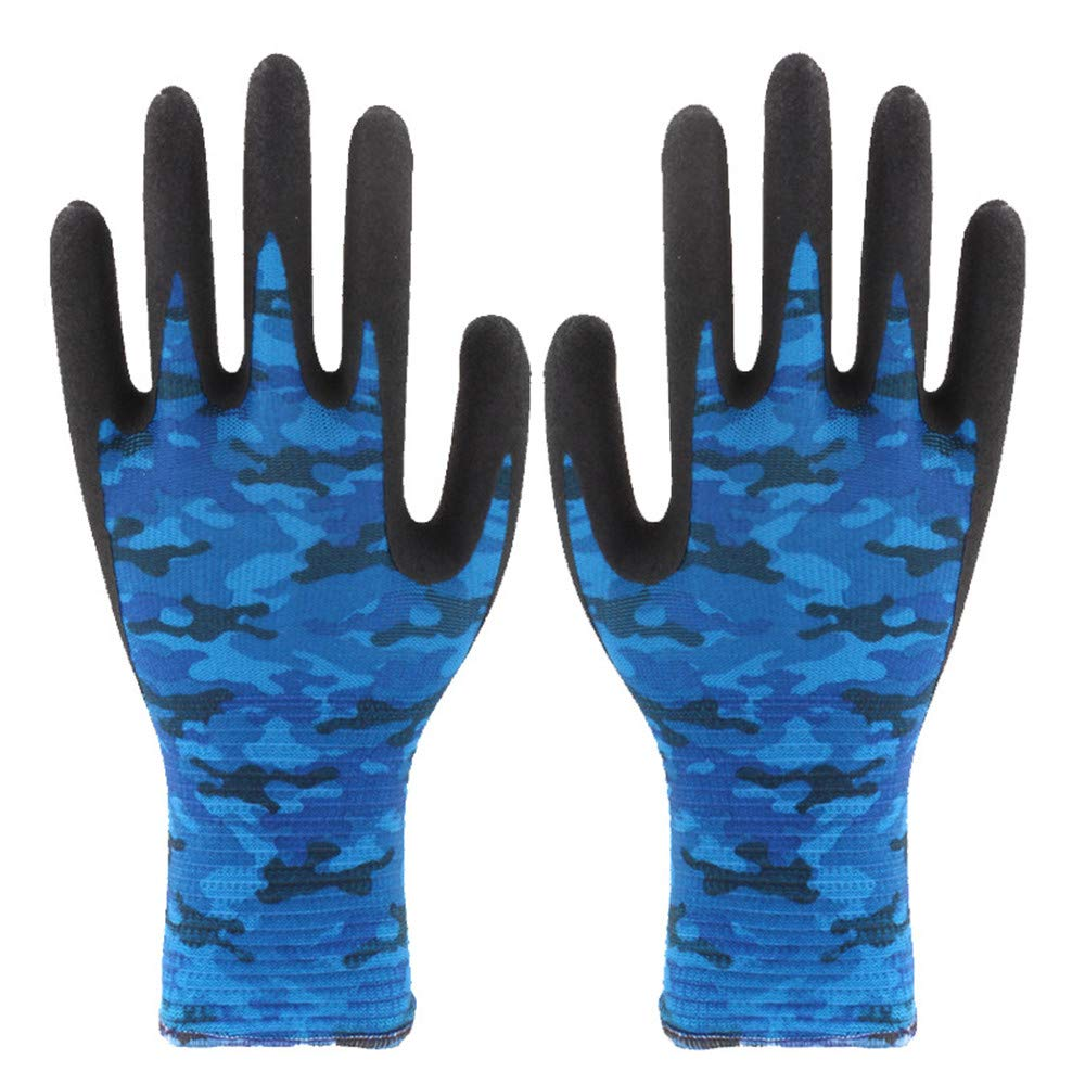 Gardening Works Pruning Gloves Summer Ultra-thin Gardening Stab-resistant Waterproof Anti-tie Gloves Garden Planting Pruning Gloves Unisex Thorn and Cut Proof Gloves ( Color : Blue , Size : M )