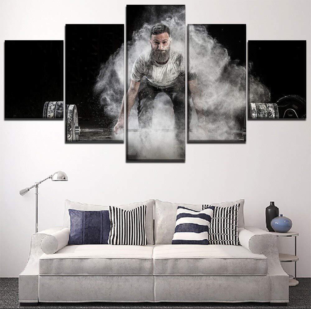 mmwin Modern Home Decorative Wall Art Hombres Lift Barbells ...