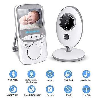 Amazon.com: Monitor de bebé, 2,4 pulgadas, LCD digital ...