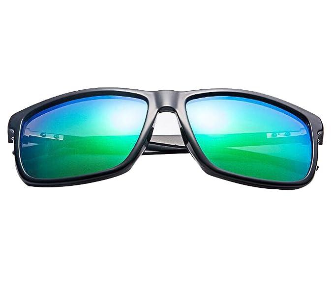 Gafas De Sol Polarizadas Marco De Los Hombres De Aluminio-magnesio ,BlackBox+GreenLens
