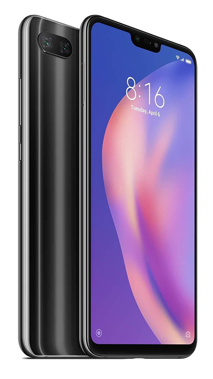 Xiaomi Mi 8 Lite (64GB, 4GB RAM) 6.26' Full Screen Display, Snapdragon 660, Dual AI Camera's, Factory Unlocked Phone - International Global 4G LTE Version (Black)