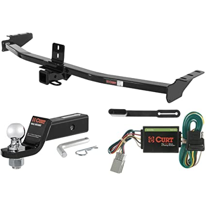 Amazoncom CURT Class Trailer Hitch Tow Package With Ball For - Tow hitch for acura mdx
