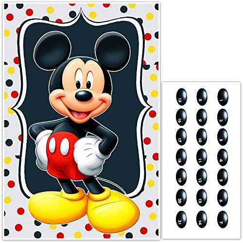 Pin the Nose on Mickey Mouse Birthday Party Game for $<!--$22.50-->