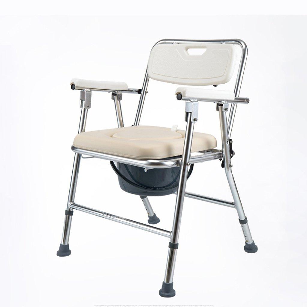 折りたたみ式トイレ椅子とトイレの椅子のバスルームのアンチスリップ調節可能な高さのバスルームシャワーのスツール高齢者/妊婦/障害者のトイレの椅子 B07KF6PK72