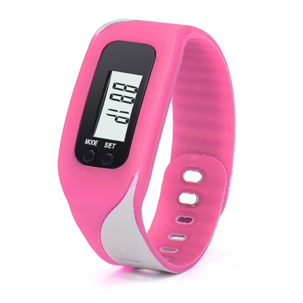 歩数計腕時計ブレスレット、gotd Large LCD表示ステップ歩数計ウォーキングカロリー距離カウンター、ベスト歩数計をジョギングウォーキング/ウェアラブルFitness Tracker forメンズレディースキッズ B01M0GO77C レッド