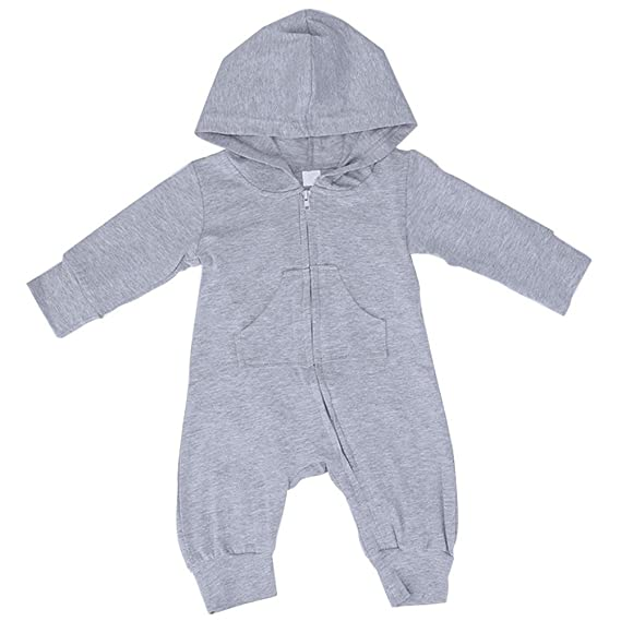 218a9a522244 Chinatera Baby Boy s Clothes Hooded Cartoon Pattern Romper Zipper ...