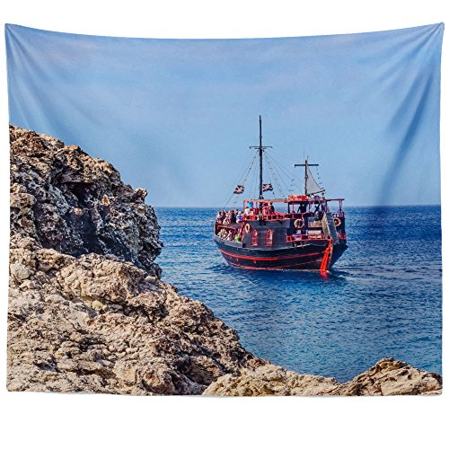 Greco Tapestry (Westlake Art Wall Hanging Tapestry - Cape Greco - Photography Home Decor Living Room - 68x80in (x8z-816-132))