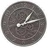 Whitehall Gear 16'' Indoor Outdoor Wall Clock
