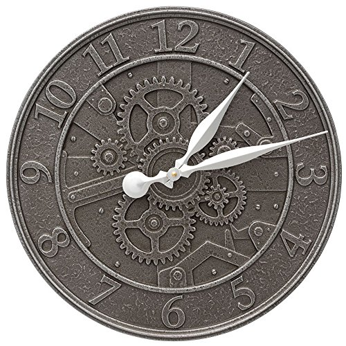 Whitehall Gear 16'' Indoor Outdoor Wall Clock by Whitehall (Image #1)